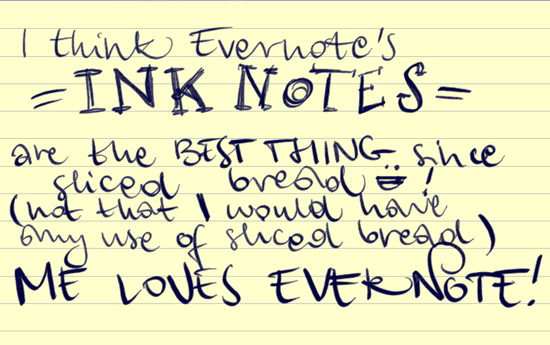 Evernote Ink Notes